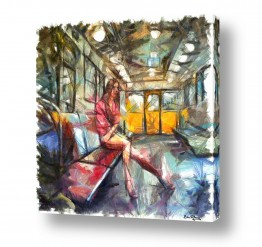 ציורים עירוני וכפרי | במטרו בפריז