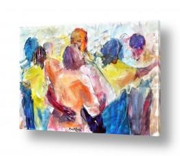 תמונות לפי נושאים רישום | אנונימיות בריקוד