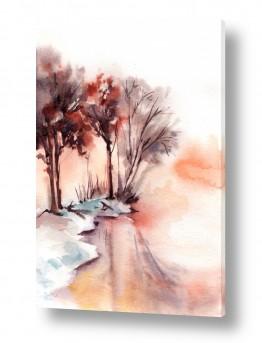 ציורים סופי רודיונוב | יער חורפי