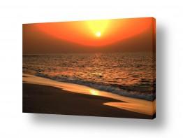 נוף חופים | שקיעה נוגה