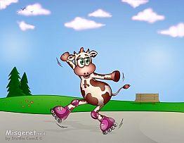 בלה הפרה מחליקה על רול