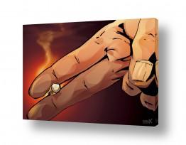 תמונות לחדרי ילדים | אצבעות מחזיקות סיגריה