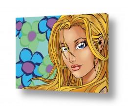 תמונות לפי נושאים קומיקס | Flower girl blond