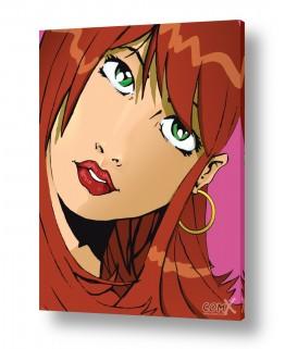 תמונות לפי נושאים קומיקס | אישה עם שיער חום