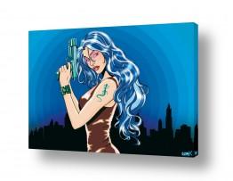 תמונות לפי נושאים מנגה | Gun girl blue