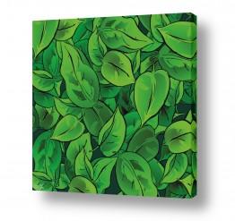 עץ שלכת | עלים ירוקים צד ימין