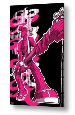 תמונות לפי נושאים קומיקס | כוכב רוק אנד רול - ורוד