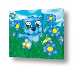 תמונות לחדרי ילדים | Bear blue