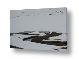 צילומים מזג-אוויר | נהר בשלג