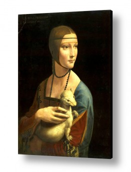 אמנים מפורסמים לאונרדו דה וינצי | Lady with an ermine