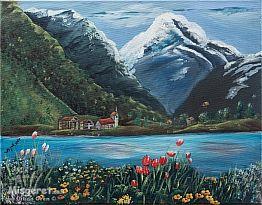 כפר קטן ליד האגם