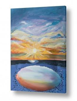 ציורים מים | זריחה
