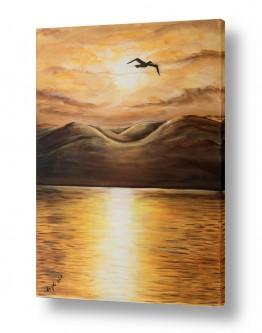 ציורים מים | זריחת זהב