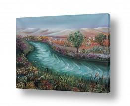 ציורים מים | מרבד פרחים