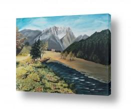 נופים וטבע הרים | עינה מתחת להר