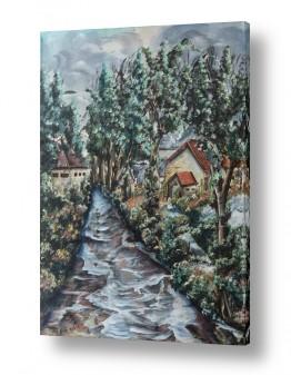 ציורים מים | אחרי השלג