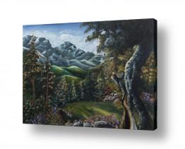 ציורים נופים וטבע | יער מהאגדות
