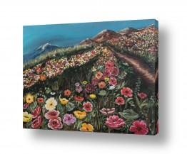 ציורים ציורים אנרגטיים | גבעת פרחים