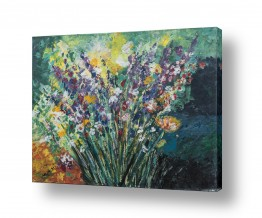 ציורים טבע דומם | זר פרחים