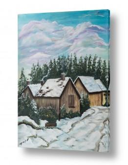 בתים גגות | שלג