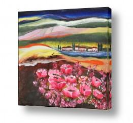ציורים ציורים אנרגטיים | כלניות