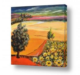שדות חיטה | חמניות