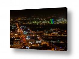 צילומים מבנים וביניינים | חיפה בלילה