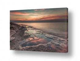 מים נוף ים | זריחה בורוד