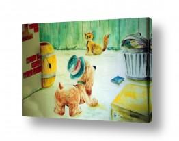 נושאים בעלי חיים - חיות | ציור קיר