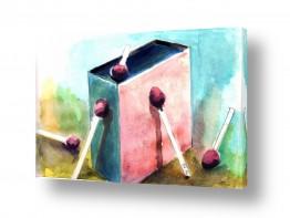 ציורים אבסטרקט | the box