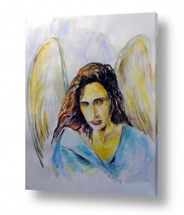 ציורים טכניקה משולבת | angel 1