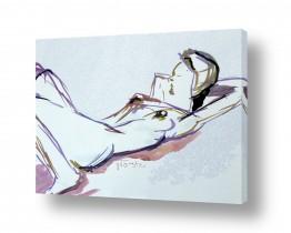 ציורים דוד סלע | דוגמנית