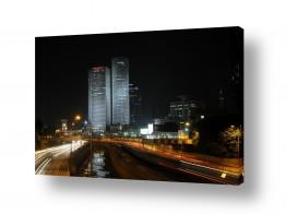 נוף עירוני בנינים | תל-אביב בלילה