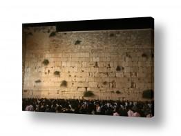 ירושלים הכותל המערבי | הכותל המערבי בלילה