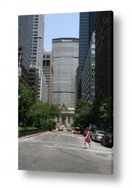 ארצות הברית ניו יורק | האדם מול הבניין