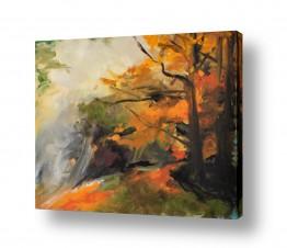 תמונות לסלון | יער כתום