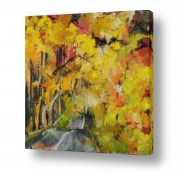 ציורים עירוני וכפרי | יער בשלכת