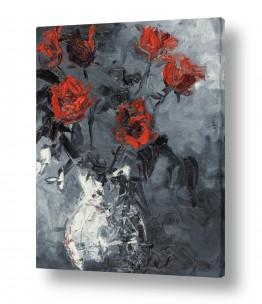 צמחים פרחים | שקוף אדום עז