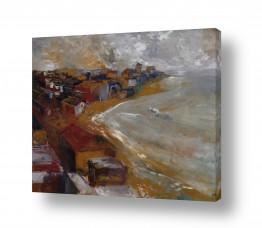 ציורים מים | העיר באפור