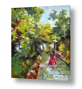 תמונות לסלון | בשמלה אדומה
