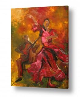 תמונות לסלון | ריקוד באדום