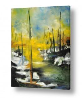 ציורים מים | שלושה תרנים