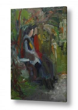 ציורים אנשים ודמויות | נערות בעין כרם