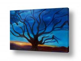 אסתר חן-ברזילי אסתר חן-ברזילי - אמנות מהלב - המילים הפכו לצבעים - כי האדם עץ השדה | כי האדם עץ השדה