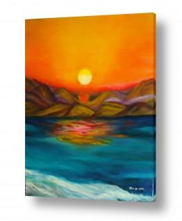 אסתר חן-ברזילי אסתר חן-ברזילי - אמנות מהלב - המילים הפכו לצבעים - השתקפות | זריחה