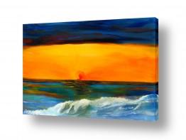 נוף מיים | שקיעה