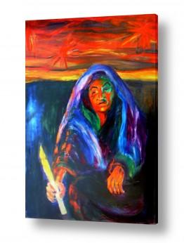 אסתר חן-ברזילי אסתר חן-ברזילי - אמנות מהלב - המילים הפכו לצבעים - הבעת עצב | אשה