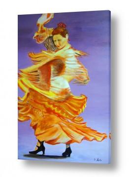 ציורים אנשים ודמויות | רקדנית פלמנקו
