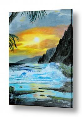 אסתר חן-ברזילי אסתר חן-ברזילי - אמנות מהלב - המילים הפכו לצבעים - שקיעה | שקיעה