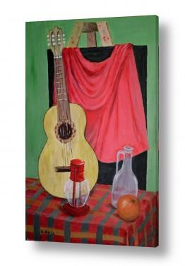 ציורים טבע דומם | גיטרה ספרדית